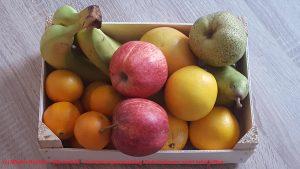 Anrichtungsvorschlag für eine Obstkiste