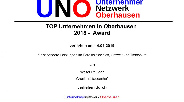 Unternehmer Award 2018