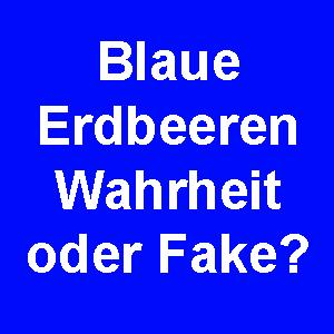 Blaue Erdbeeren: Wahrheit oder Fake?